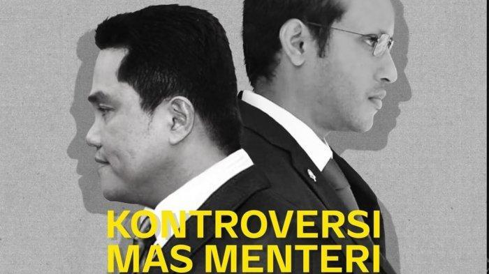 'Kontroversi Mas Menteri', Nadiem Makarim dan Erick Thohir 'Disidang' di Mata Najwa Malam Ini