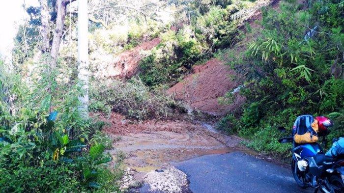 Jalan Poros Pangala-Rantepao di Rindingallo Toraja Utara Tertutup Longsor