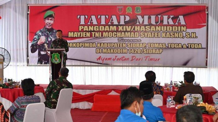 Kunjungan Kerja ke Sidrap, Pangdam XIV/Hasanuddin Minta Restu ke Warga