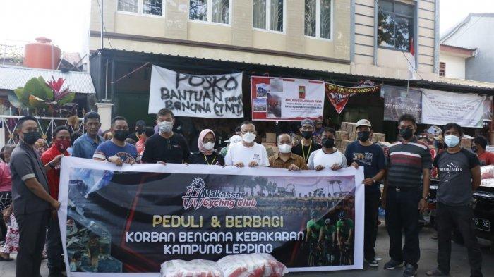 Disaksikan Lurah Jongayya, MCC Peduli Salurkan Sembako ke Korban Kebakaran Kampung Lepping