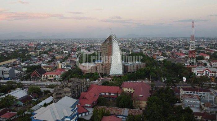 FOTO Drone; Menara Phinisi Universitas Negeri Makassar