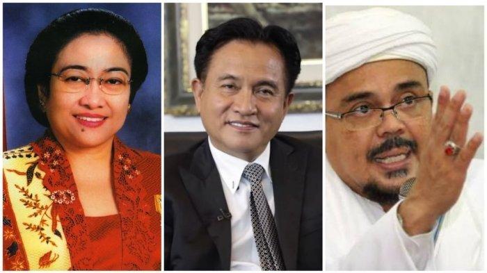 Mengapa Nama Megawati dan Yusril Ihza Mahendra Ikut Disebut dalam Sidang Praperadilan Rizieq?