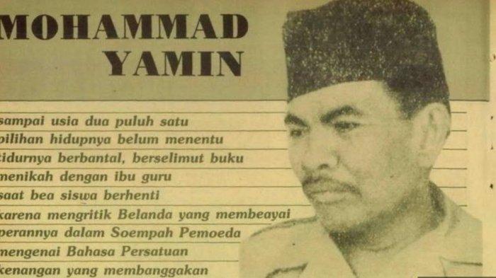 Mengenal Sosok Mohammad Yamin dalam Kongres Pemuda II, Jadi Tokoh Pendorong Bahasa Indonesia
