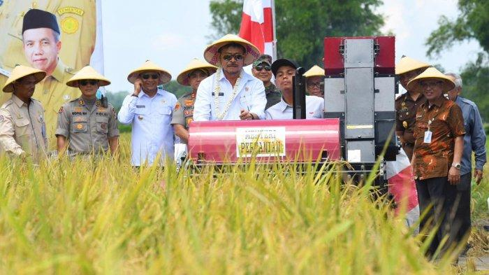 Mentan Syahrul Bersama Pemuka dan Masyarakat Pasuruan Panen dan Tanam Padi
