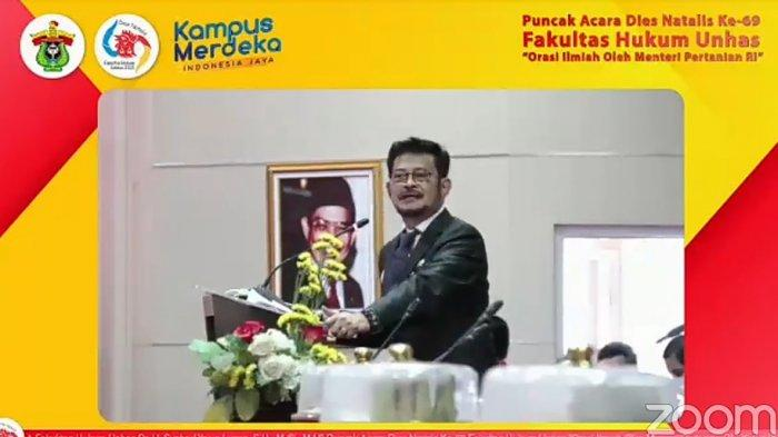 Menteri Pertanian Sebut Prof Farida Sukses Antar Fakultas Hukum Unhas Jadi Luar Biasa