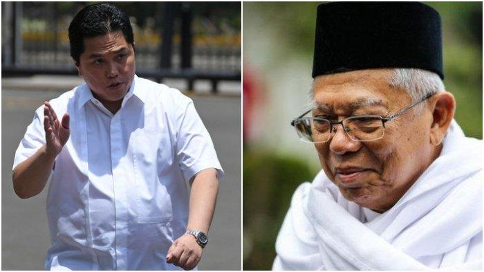 Kabar Buruk Maruf Amin di 100-an Hari Menjabat dengan Jokowi, Dikalahkan Erick Thohir, Pembelaan