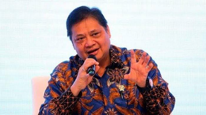 Menteri Koordinator (Menko) Bidang Perekonomian <a href='https://manado.tribunnews.com/tag/airlangga-hartarto' title='AirlanggaHartarto'>AirlanggaHartarto</a>
