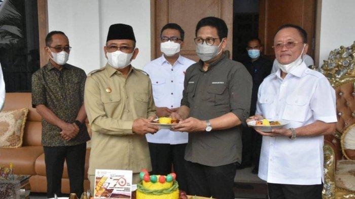 Gubernur Ali Baal Masdar dan Sekprov Dampingi Menteri PDTT ke Mamuju Tengah