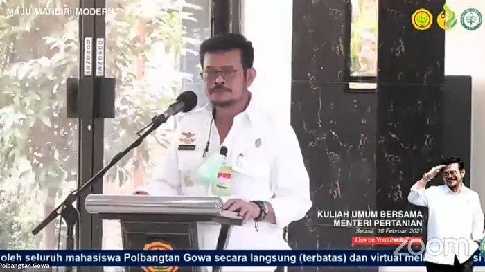 Menteri Pertanian Beri Kuliah Umum di Polbangtan Gowa