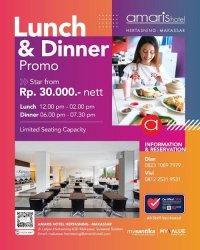 Menu Khas Indonesia di Amaris Hotel Hertasning Hanya Rp 30 Ribu per Pax