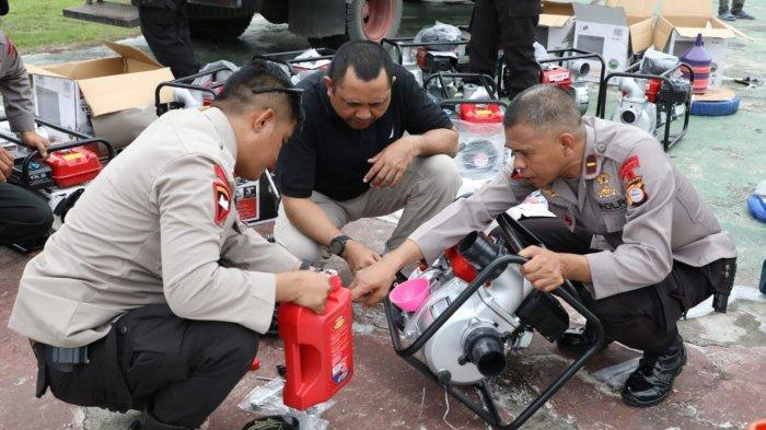 10 Mesin Pompa Air Wapres JK Tiba dan Siap Pakai di Jeneponto