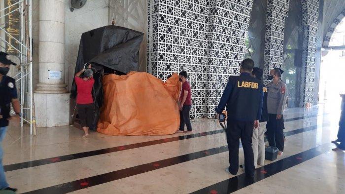 Ciri-ciri Pembakar Mimbar Masjid Raya Makassar Sudah Teridentifikasi