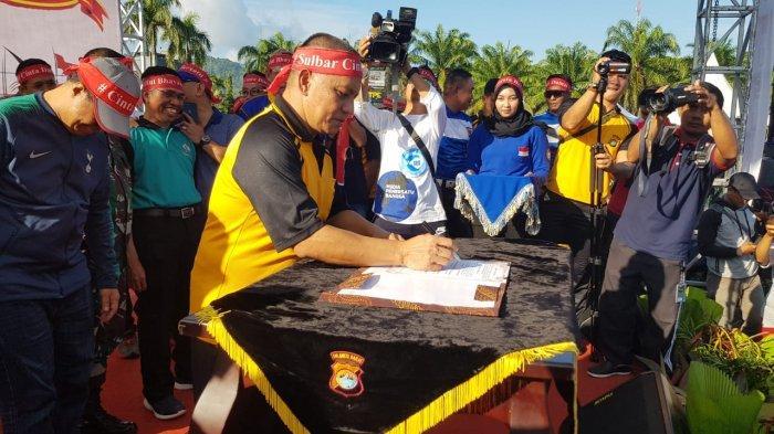 Pasca Putusan Sengketa Pilpres di MK, Polda Sulbar Deklarasi Tolak Kerusuhan