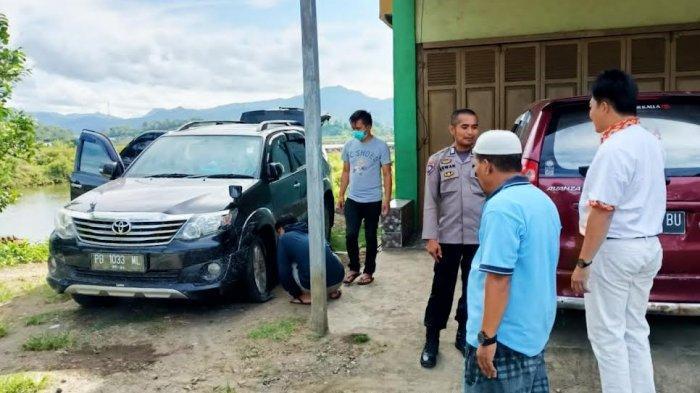 Ban Pecah, Pencuri Kabur Tinggalkan Mobil Fortuner Milik Warga Toraja Utara di Barru