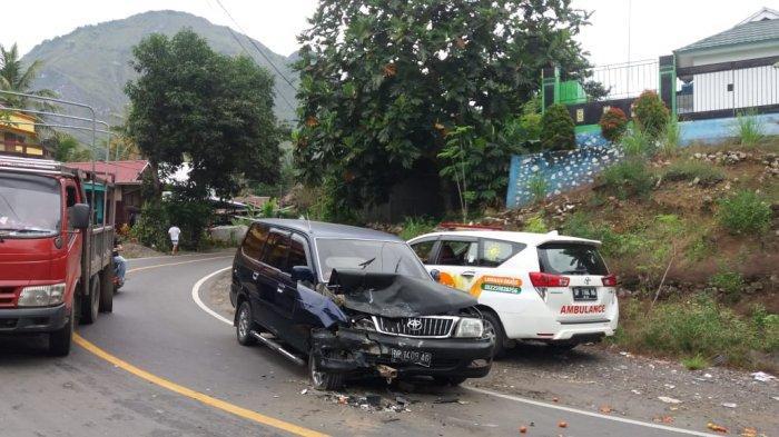 Hendak Bawa Bantuan ke Sulbar, Mobil LazisMu Enrekang Alami Lakalantas di Cakke