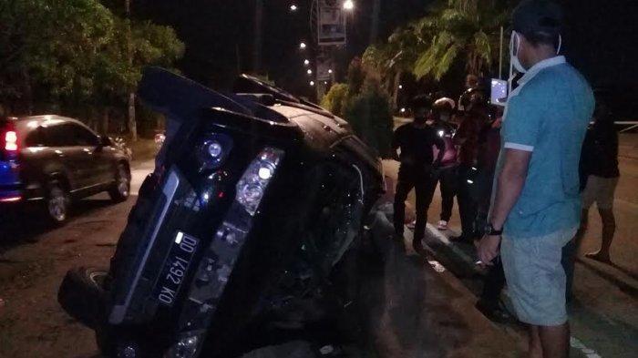 Ini Identitas Pengemudi Pajero Sport yang Terguling di Jl Metro Tanjung Bunga Makassar