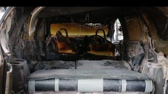 Hendak Isi Bensin, Mobil Calya Terbakar di SPBU Jeneponto
