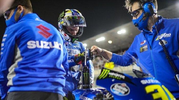 JADWAL MotoGP Doha 2021, Pembalap Suzuki Joan Mir Usung Misi Pembalasan pada Ducati