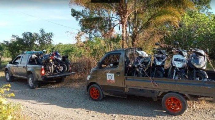 Polisi Amankan 17 Motor Pelaku Judi Sabung Ayam di Luwu