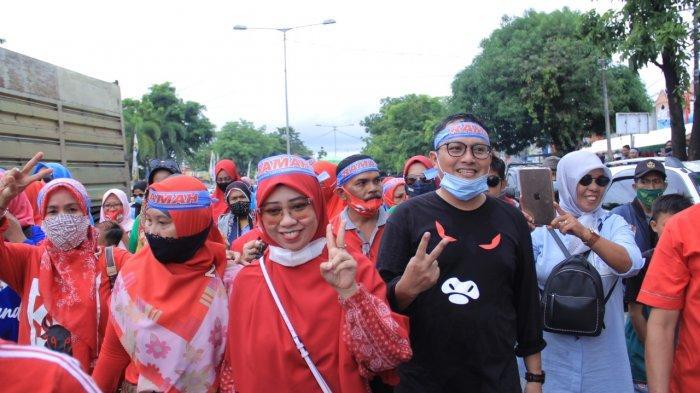 Kampanye Terakhir, Ramah dan Ribuan Simpatisannya Jalan Kaki Bersama