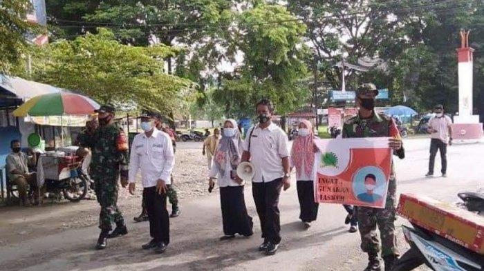 Camat Sukamaju Bersama TNI-Polri Cari Pelanggar Protokol Kesehatan