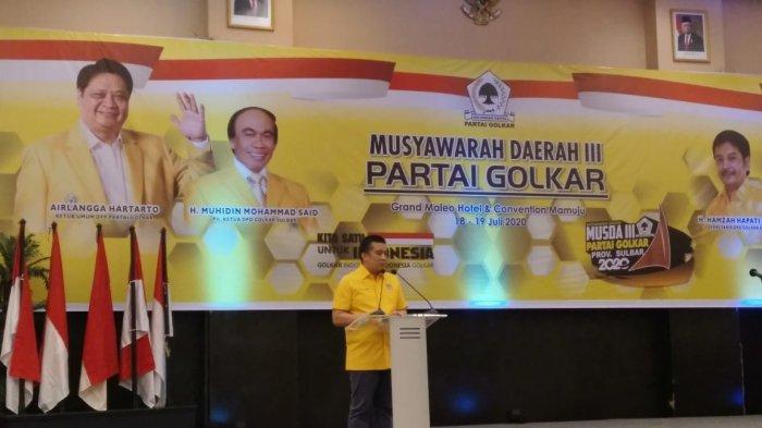 Erwin Aksa Buka Musda Golkar Sulbar, Gubernur dan Ketua DPRD Kompak Hadir