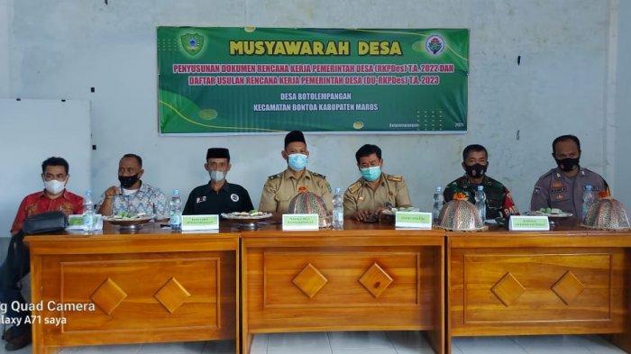 Kepala Desa Botolempangan Gelar Musyawarah Penyusunan RKP Desa Tahun 2022 dan DU-RKP Tahun 2023