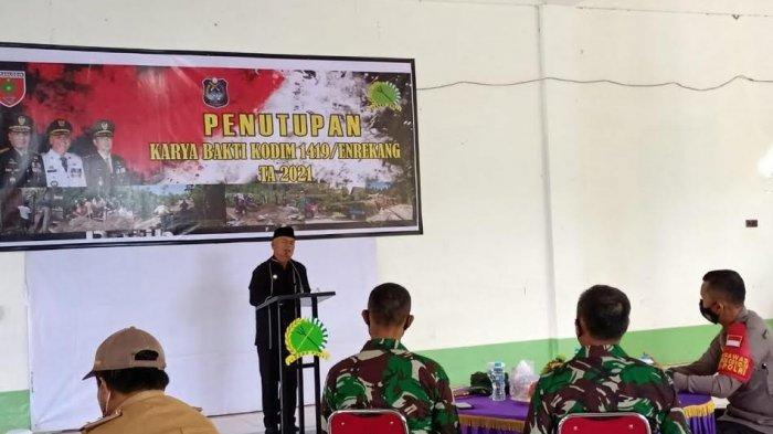 Karya Bakti Kodim 1419 Tuntas, Bupati Enrekang Apresiasi TNI Makin Dekat dengan Masyarakat