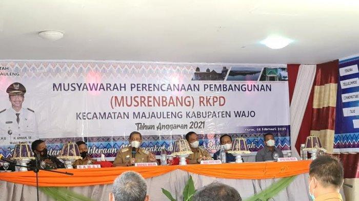 Musrembang di Kecamatan Majauleng, Bupati Wajo Tekankan 3 Program Prioritas Ini