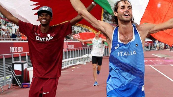 2 Atlet Ini Sepakat Berbagi Emas di Cabor Lompat Tinggi Olimpiade Tokyo, Alasan Keduanya Bikin Haru