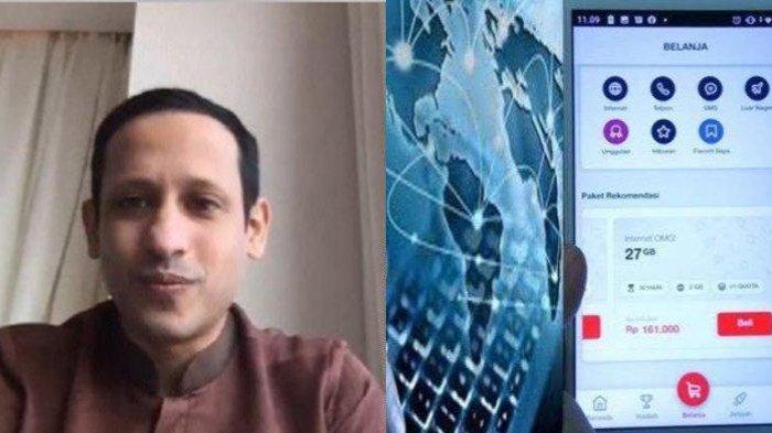 KABAR GEMBIRA untuk Anak Sekolah, Mendikbud Nadiem Makarim Perbolehkan Minta Pulsa Kuota ke Sekolah