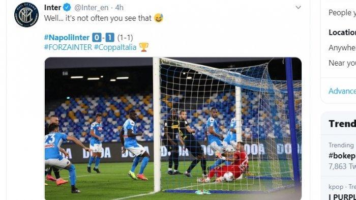 Sempat Unggul, Inter Milan Gagal ke Final Coppa Italia. Napoli Akhirnya Tantang Juventus
