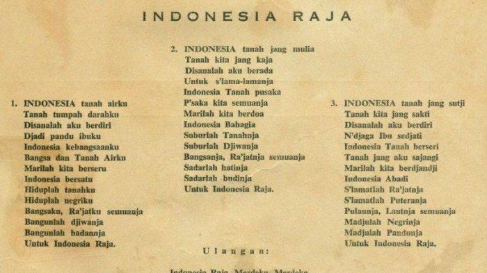 Tribunwiki Simak Sejarah Lagu Indonesia Raya Serta Lirik Aslinya Tribun Timur