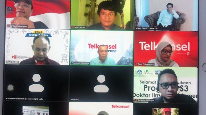 Pemda Enrekang, PT Telkomsel, STIE Amkop Makassar Bahas Pengembangan Produk Desa Berbasis Digital