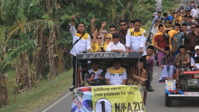 Ini Kendaraan Nurdin Halid Menuju Lokasi Kampanye di Wajo