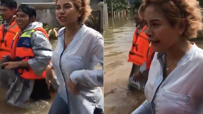 Benarkah Nikita Mirzani Tak Pakai Bra Saat Kunjungi Korban Banjir? Foto ini Jadi Perdebatan & Viral