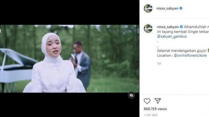 Tak Kunjung Klarifikasi Soal Dugaan Hubungan Gelap dengan Ayus, Nissa Sabyan Tutup Kolom Komentar IG
