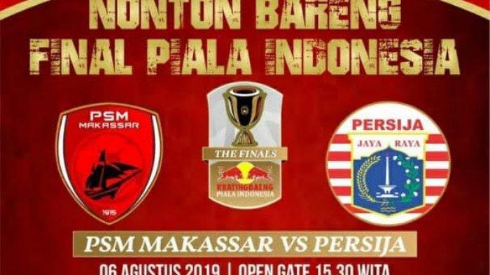 Final Piala Indonesia 2019, Ini Dua Lokasi Nobar di Watampone