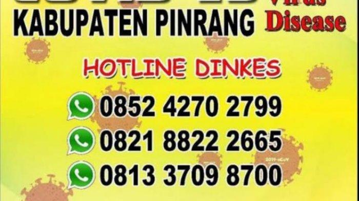 Berikut Nomor Telepon Bisa Dihubungi Penanganan Covid-19 di Pinrang, Layani Pesan WhatsApp