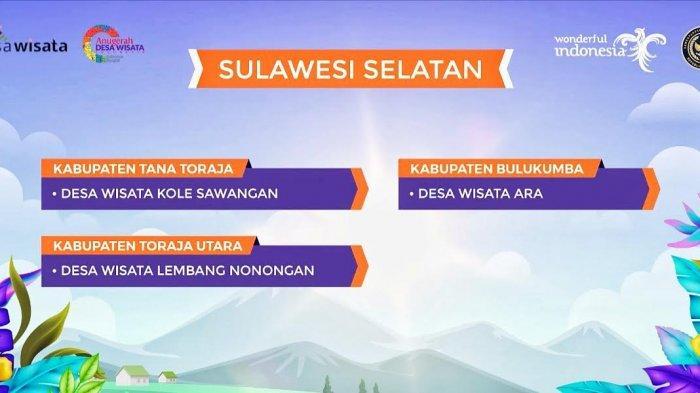 Nonongan dan Kole Sawangan Toraja Masuk Daftar Desa Wisata Terbaik ADWI 2021