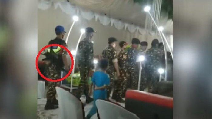 VIRAL Video Ormas Pakai Seragam Loreng Bawa Senjata Antre Naik ke Pelaminan, Netizen: Ngeri!