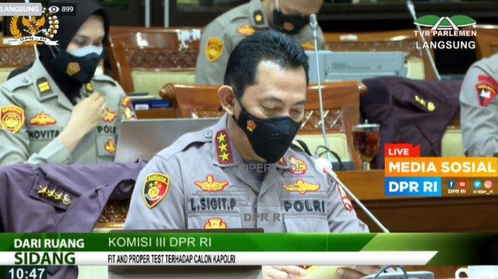 Live Streaming Uji Kelayakan Listyo Sigit Prabowo di DPR RI, Pendampingnya Jenderal Terbaik Akpol 91