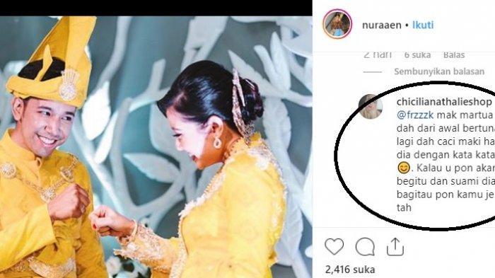 Nuraaen Menantu yang Viral Dicibir di Instagram, Begini Balasan Teman, Bongkar Sifat Asli Mertua