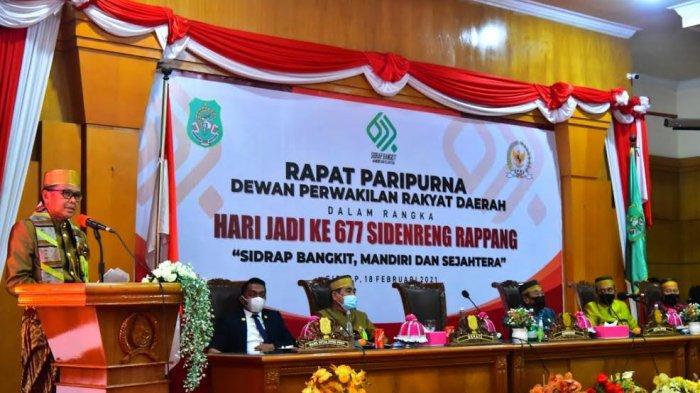 Sebelum Masuk Gedung DPRD, Tamu Hari Jadi Kabupaten Sidrap Jalani Rapid Tes Antigen