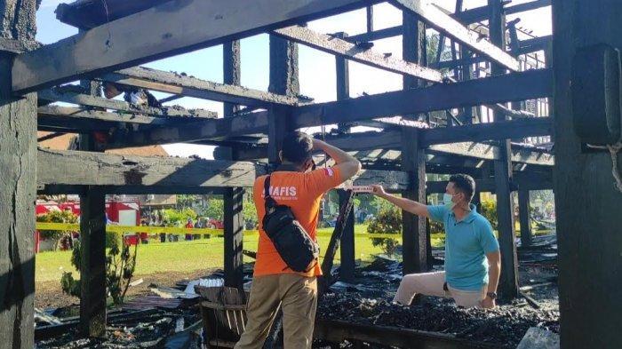 Rumah Adat Bola Soba Bone Terbakar, Polisi Masih Selidiki Penyebab Kebakaran