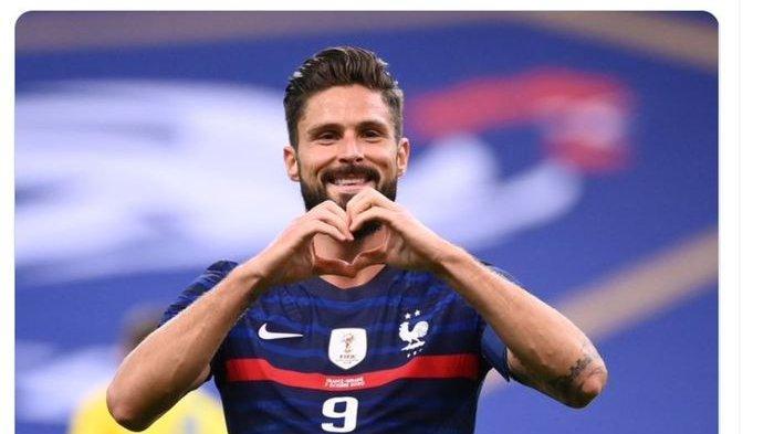 Jelang EURO 2020, Olivier Giroud Tampil Garang Bersama Prancis padahal Pesakitan di Chelsea