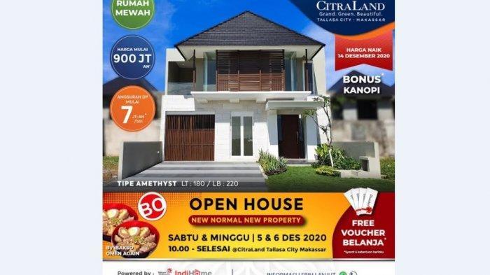 Open House CitraLand Tallasa City 12-13 Desember,Harga Mulai Rp 900 Jutaan, Uang Muka Bisa Dicicil