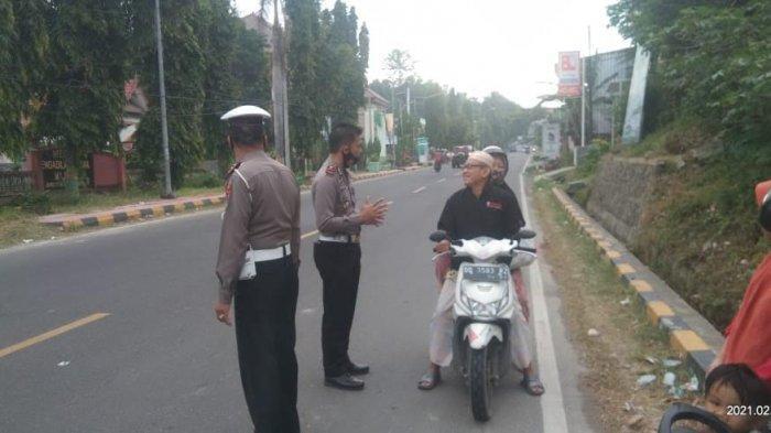 Tekan Angka Kecelakaan, Polantas Polres Majene Razia Disiplin Berlalu Lintas