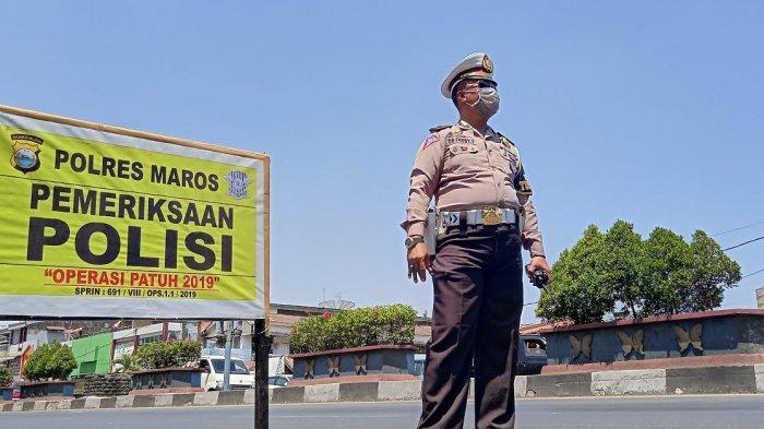 Polres Maros Gelar Operasi Patuh di Depan Pasar Sentral, Lengkapi Surat Kendaraan Anda