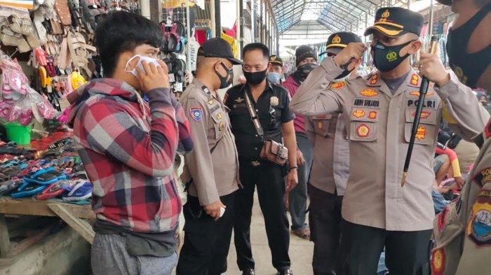 Kasus Covid-19 di Kelurahan Juppandang Tertinggi, Kapolres Enrekang Pimpin Langsung Operasi Yustisi